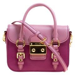 Miu Miu Purple/Pink Leather Satchel