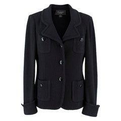 St John Caviar Black Wool Jacket US 2