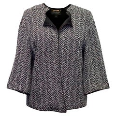 St John Grey and Black Knitted Jacket US 6