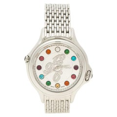 Fendi Silver Stainless Steel Crazy Carats Women's Wristwatch 38mm