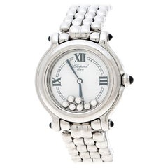 Chopard  Stainless Steel and Diamonds Happy Sport 8236 Women's Wristwatch 32mm