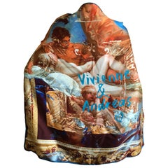 Vivienne Westwood Large Silk Scarf with Hand Rolled Edges