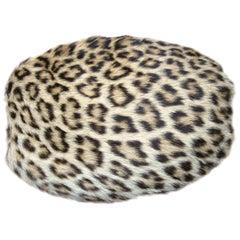 1940s-50s Leopard Print Muff Hand bag Vintage