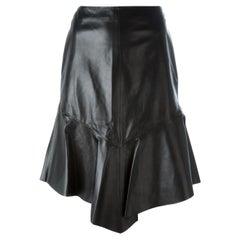 Givenchy Asymmetric Leather Peplum Skirt