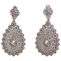 J. Kasi Vermeil and CZ Filigree Pierced Earrings