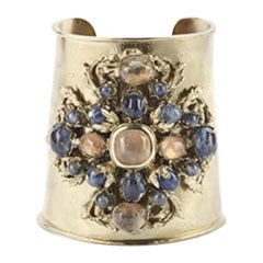 Goossens Paris Iolite and Rock Crystal Cuff