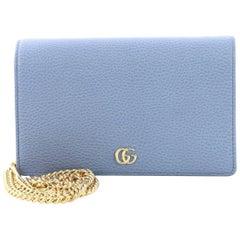 Gucci Petite Marmont Chain Wallet Leather Mini