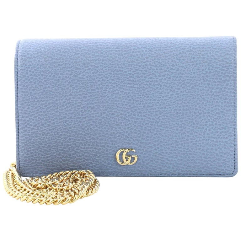 1cfd4cf9a8a5 Gucci Petite Marmont Chain Wallet Leather Mini For Sale at 1stdibs