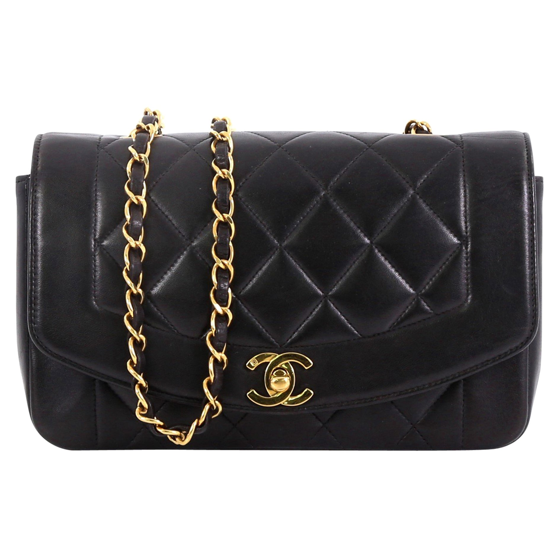 62d900568b462e Chanel Vintage Diana Flap Bag Quilted Lambskin Small at 1stdibs