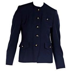 Navy Blue Vintage Chanel Creations Jacket