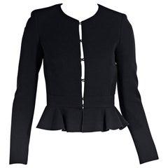 Black Alexander McQueen Silk Moto Jacket