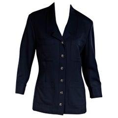 Navy Blue Vintage Chanel Blazer