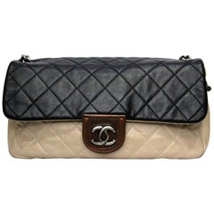 Chanel Bicolor Leather  Medium Flap Bag