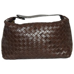 Bottega Veneta Brown Intercciato Woven Leather 2008 Make Up Bag