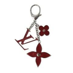 Louis Vuitton Fleur D' Epi Fuschia Bag Charm Key Chain