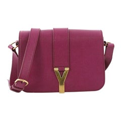 Saint Laurent Chyc Flap Crossbody Bag Leather Medium