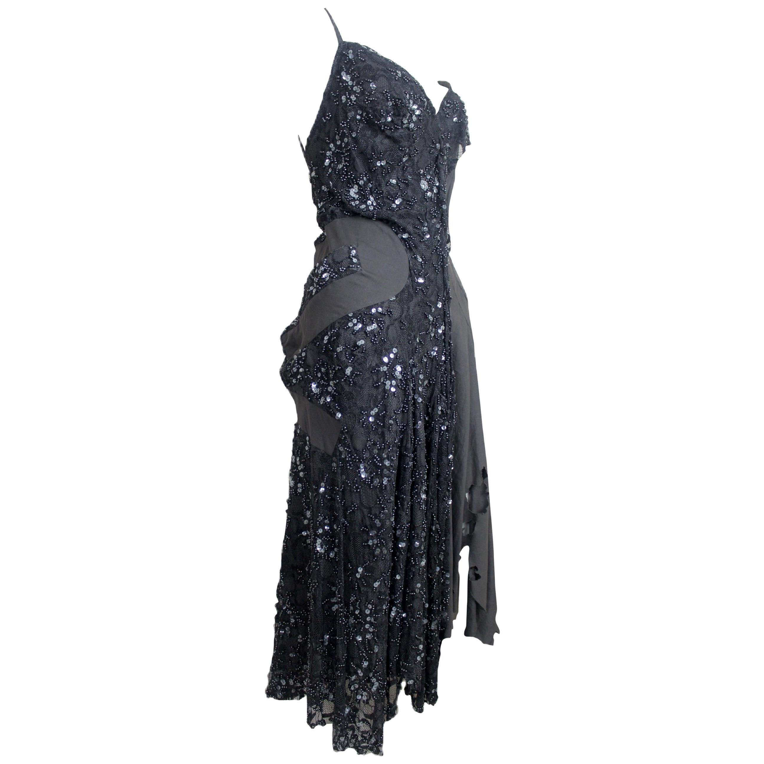 Junya Watanabe Comme des Garcons 2002 Collection Beaded Runway Dress