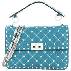 Valentino Free Rockstud Spike Flap Bag Quilted Leather Medium