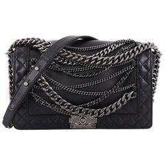 803541330a87 Chanel Boy Flap Bag Enchained Lambskin New Medium