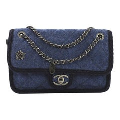 Chanel Paris-Salzburg Flap Bag Quilted Wool Small