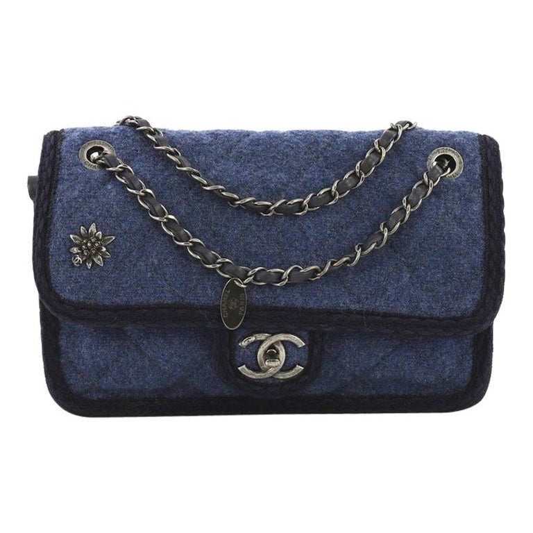 8e9b2b8156f9 Chanel Paris-Salzburg Flap Bag Quilted Wool Small For Sale at 1stdibs