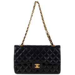 Chanel Timeless Navy Lambskin Leather Handbag