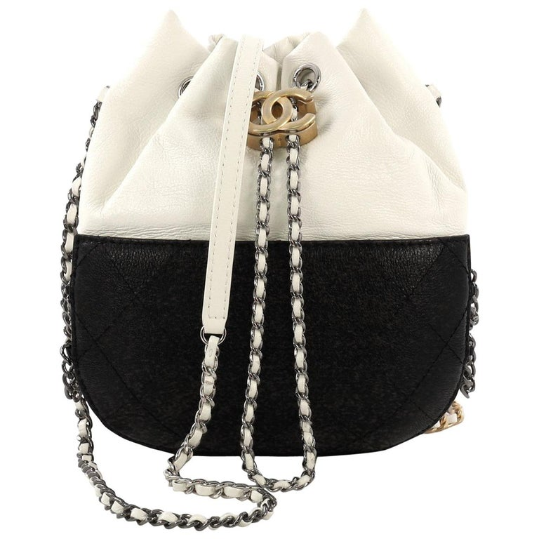 08ec9ee2b54e84 Chanel Gabrielle Drawstring Bag Quilted Calfskin Small For Sale at ...