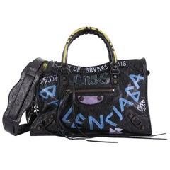 Balenciaga City Graffiti Classic Studs Handbag Leather Small