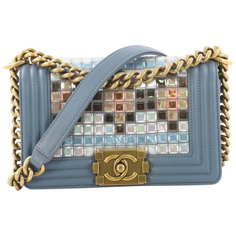 fd4427aff90c Chanel Mosaic Boy Flap Bag Embellished Lambskin Small at 1stdibs