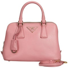 Prada Pink  Leather Saffiano Lux Promenade Satchel Italy