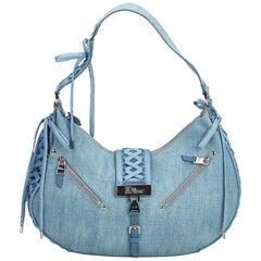 Dior Blue Denim Fabric Admit It Shoulder Bag France w/ Authenticity Card