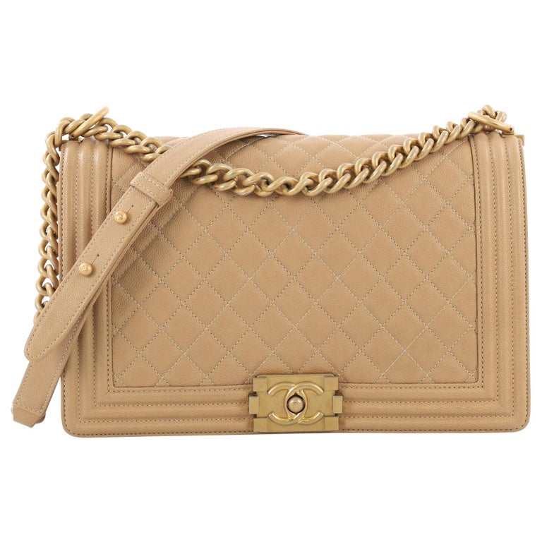 01cf31a8a222c0 Chanel Boy Flap Bag Quilted Caviar New Medium at 1stdibs