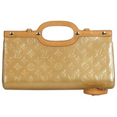 Louis Vuitton Brown Beige Vernis Leather Leather Vernis Roxbury Drive Spain