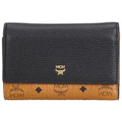MCM Brown  Leather Visetos Small Wallet Germany