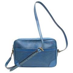 Louis Vuitton Trocadero Epi 867247 Blue Leather Cross Body Bag
