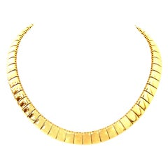 20th Century Italian Gold Link Choker Style Necklace By, Napier