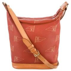 Louis Vuitton Lv Cup Touquet Hobo 867276 Red Monogram Canvas Shoulder Bag
