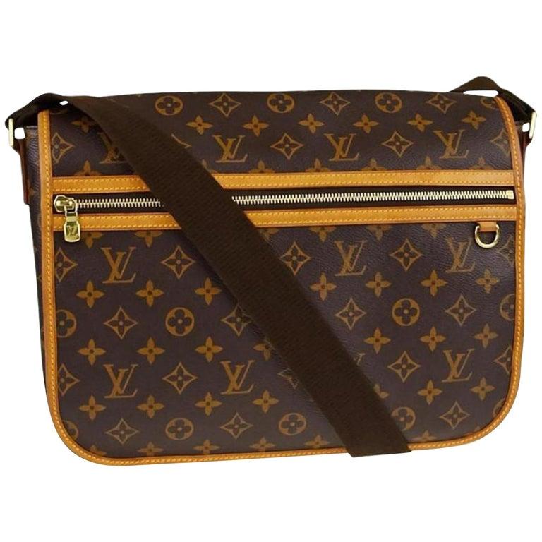 13739a34e011 Louis Vuitton Monogram Bopshore Gm 867147 Brown Coated Canvas Shoulder Bag  For Sale