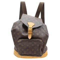 Louis Vuitton Montsouris Monogram Gm 867174 Brown Coated Canvas Backpack