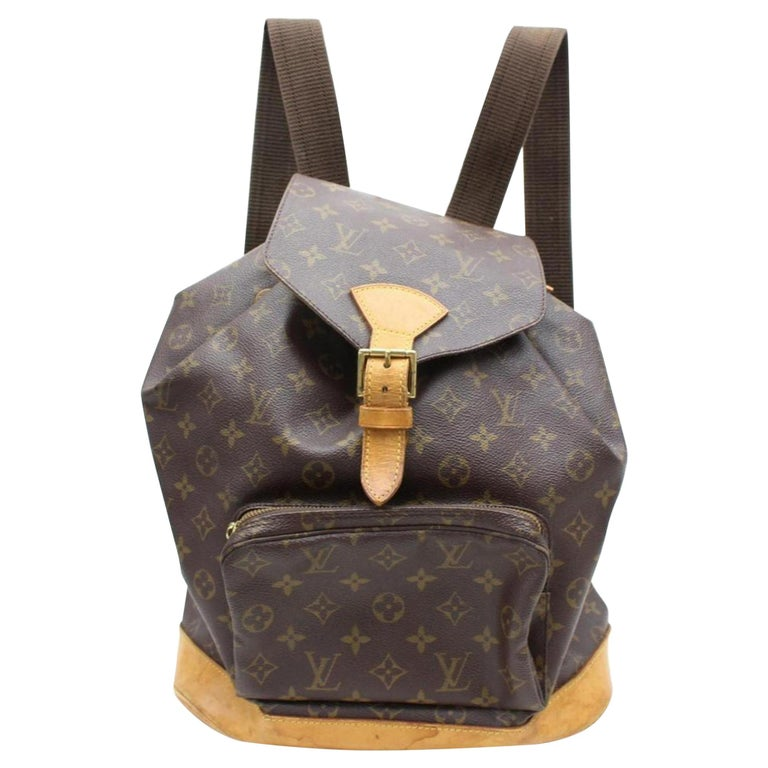 156e89b6465f Louis Vuitton Montsouris Monogram Gm 867174 Brown Coated Canvas Backpack  For Sale