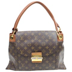 Louis Vuitton Olympe Camel Monogram 867177 Brown Coated Canvas Satchel