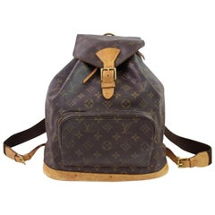 Louis Vuitton Montsouris Monogram Gm 867119 Brown Coated Canvas Backpack