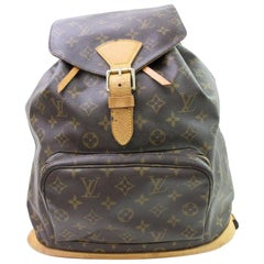 Louis Vuitton Montsouris Monogram Gm 867009 Brown Coated Canvas Backpack