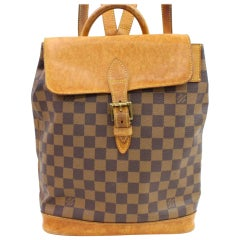 Louis Vuitton Damier Arlequin Soho 867011 Brown Coated Canvas Backpack