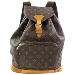 Louis Vuitton Montsouris Monogram Gm 867018 Brown Coated Canvas Backpack