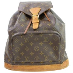 Louis Vuitton Montsouris Monogram Gm 867021 Brown Coated Canvas Backpack