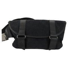 Gucci Gg Belt Pouch Waist Pack 867065 Black Coated Canvas Cross Body Bag