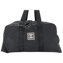 b6d12b578ec91c Chanel Cc Sports Logo Boston Duffle 867098 Black Nylon Weekend/Travel Bag