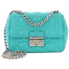 Christian Dior Miss Dior Long Chain Handbag Cannage Quilt Lambskin Mini