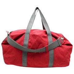 Prada Boston 2way Duffle 866935 Red Nylon Weekend/Travel Bag